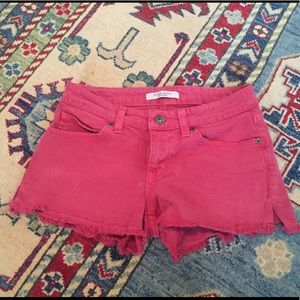 Rich and Skinny Red Shorts (frayed) Sz 24